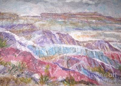 Painted Desert Art Print by Ellen Levinson
