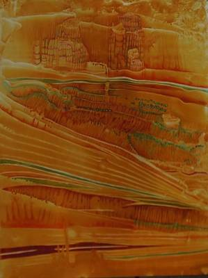 Printmaking Mixed Media - Painted Desert by Mary Wahr