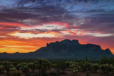 Photograph - Painted Desert Skies Over The Supes  by Saija Lehtonen