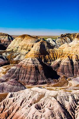Petrified Forest Arizona Photograph - Painted Desert Yellow Bands by David Waldo