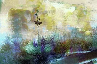Photograph - Painted Desertscape by Barbara Chichester