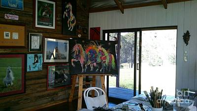 Photograph - Painted Dreams Studio by Louise Green