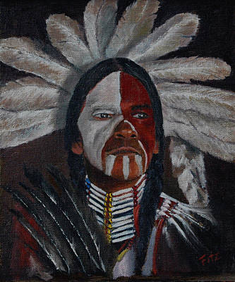 Painting - Painted Face by Rick Fitzsimons