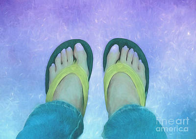 Photograph - Painted Feet In Flip Flops by Renee Trenholm
