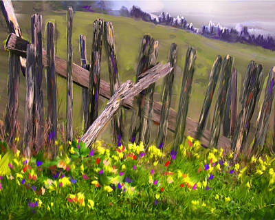 Painted Fence Art Print by Vicki Tomatis