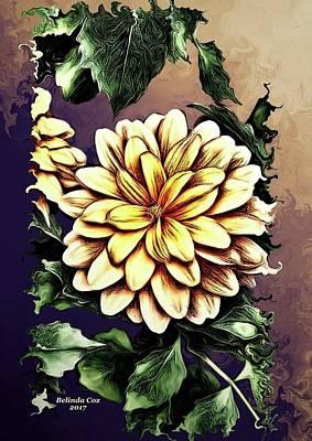 Digital Art - Painted Flowers by Artful Oasis