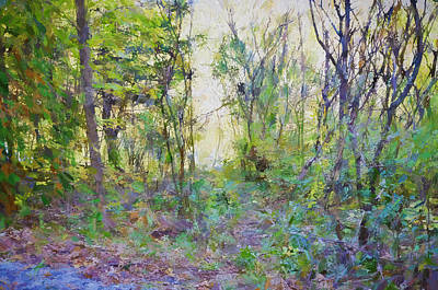 Painted Forrest Art Print by Rena Trepanier