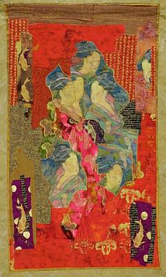 Tapestry - Textile - Painted Geisha by Roberta Baker