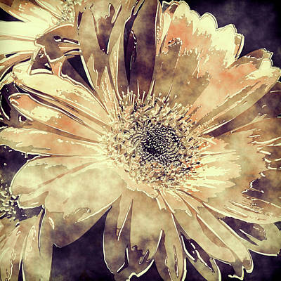 Photograph - Painted Gerbera Daisies 3 by HH Photography of Florida