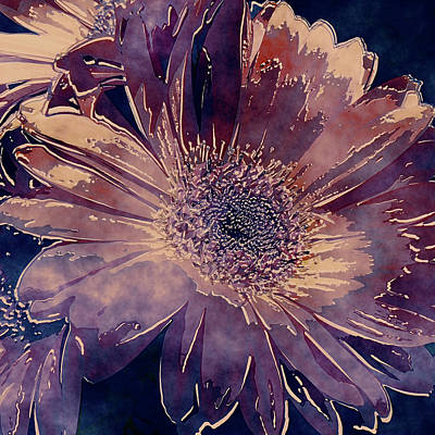 Photograph - Painted Gerbera Daisies by HH Photography of Florida