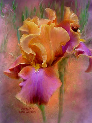 Romantic Art Mixed Media - Painted Goddess - Iris by Carol Cavalaris