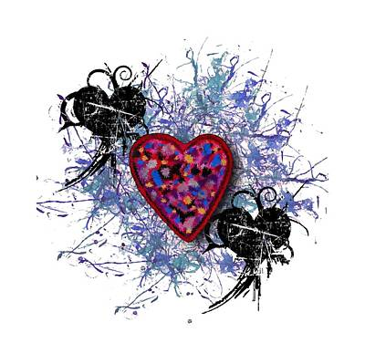 Digital Art - Painted Heart 3 by Christine Perry