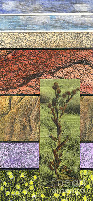 Mixed Media - Painted Hills 1 by Cyndi Lavin