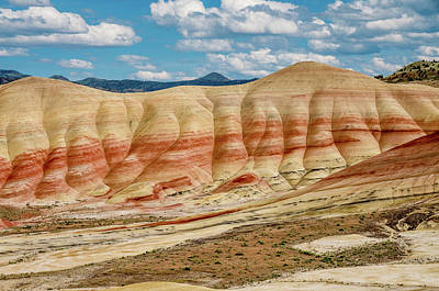 Photograph - Painted Hills And Afternoon Sky by Greg Nyquist