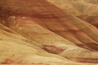 Photograph - Painted Hills - Up Close And Personal - 1  by Hany J