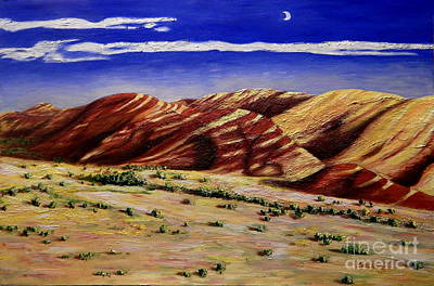 Painting - Painted Hills by Lisa Rose Musselwhite