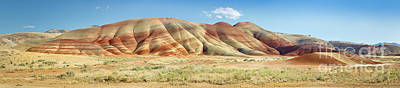 Painted Hills Pano 1 Art Print by Jerry Fornarotto