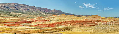 Painted Hills Pano 2 Art Print by Jerry Fornarotto