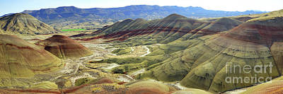Photograph - Painted Hills Panorama  by Benedict Heekwan Yang