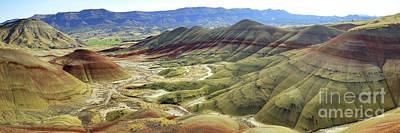Photograph - Painted Hills Panorama  by Benedict Heekwan Yang