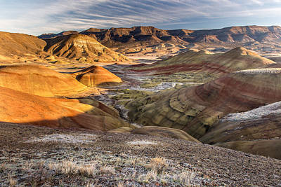Photograph - John Day Fossil Beds Painted Hills Oregon First Light 2013 by Rick Dunnuck