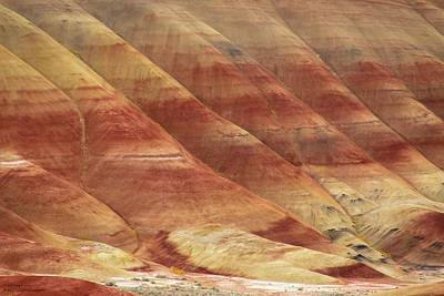 Photograph - Painted Hills - Up Close And Personal - 3 by Hany J
