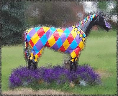 Photograph - Painted Horse by David and Lynn Keller