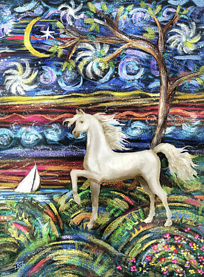 Painting - Painted Horse by Jean Batzell Fitzgerald