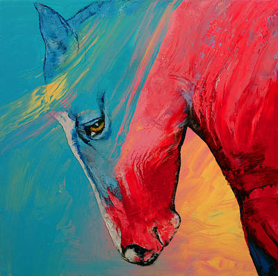 Horse Racing Painting - Painted Horse by Michael Creese