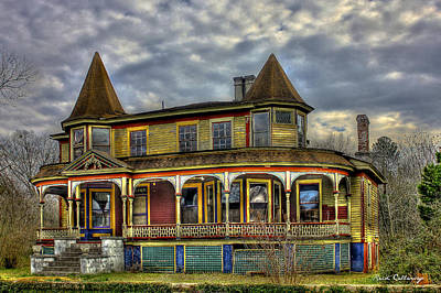 Photograph - Painted House Sparta Georgia by Reid Callaway