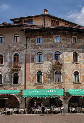 Photograph - Painted Houses In Trento by Carolyn Derstine