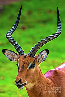 Digital Art - Painted Impala by Ed Taylor