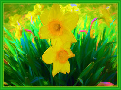 Daffodils Mixed Media -  Painted In Sunshine by Debra Lynch