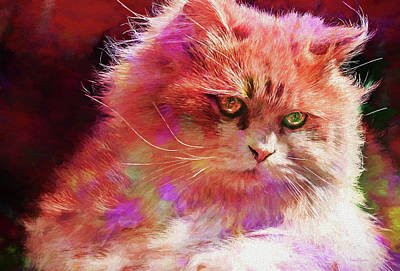 Painting - Painted Kitty Oh So Pretty by Ericamaxine Price