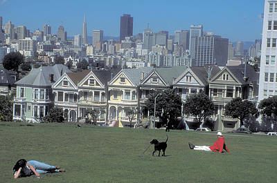 Photograph - Painted Ladies Architecture by Carl Purcell