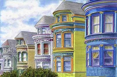 Bicycle Patents - Painted Ladies by Karen Wright