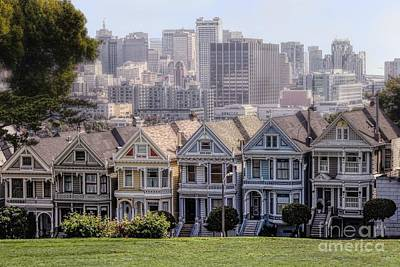 Photograph - Painted Ladies Of Alamo Square by Mary Lou Chmura