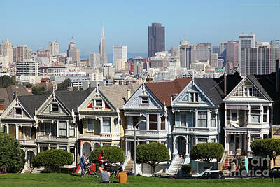 Photograph - Painted Ladies Of Alamo Square San Francisco California 5d27996 by San Francisco Art and Photography