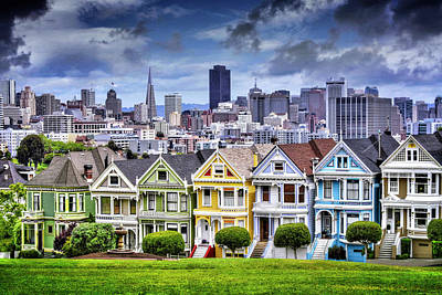 Painted Ladies Of San Francisco  Art Print
