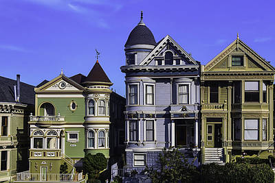 Painted Lady Photograph - Painted Ladies Of San Francisco  by Garry Gay