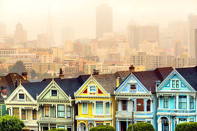 Photograph - Painted Ladies Of San Francisco by Luciano Mortula