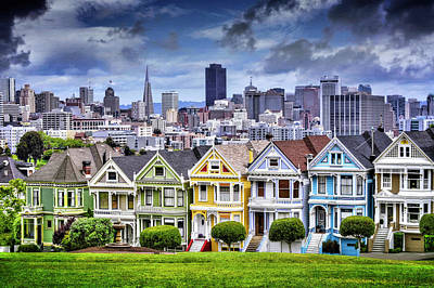 Bay Area Photograph - Painted Ladies Of San Francisco  by Carol Japp