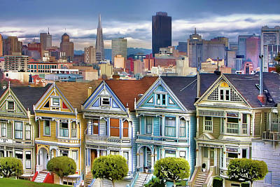 Bay Area Digital Art - Painted Ladies by Ronald Bolokofsky