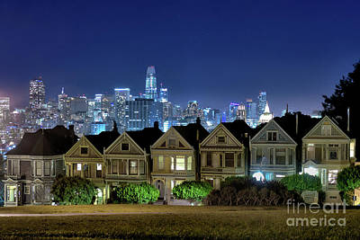 Photograph - Painted Ladies Skyline by Roxie Crouch