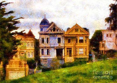 Painting - Painted Ladies by Stephen Mitchell