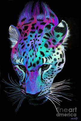 Digital Art - Painted Leopard by Nick Gustafson