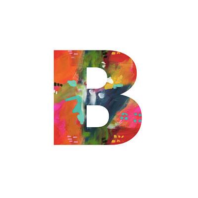 Mixed Media - Painted Letter B-monogram Art By Linda Woods by Linda Woods