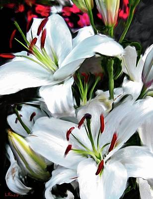 Digital Art - Painted Lilies by Bill Linn