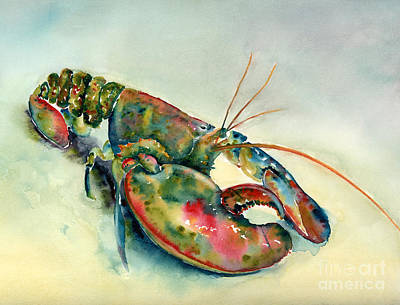 Crustacean Painting - Painted Lobster by Amy Kirkpatrick
