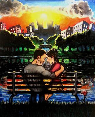 Painted Lovers Art Print